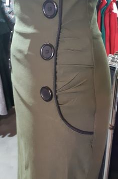 Button Dress, Buttons, How To Wear, Outfits, Big, Dresses, Black Button, Military Personnel, Womens Fashion
