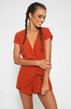 Feel It All Playsuit - Rust or Navy from Peppermayo.com