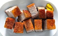 Bay Leaf Pork Belly with Yellow Mustard