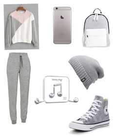 """""""Bez naslova #54"""" by brunettsfashion ❤ liked on Polyvore featuring Icebreaker, Converse, Poverty Flats, The North Face and Happy Plugs"""