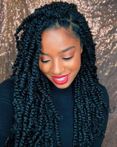 passion twists hairstyle ELIGHTY Passion Twist Hair - Material: 18 Inch Water Wave for Passion Twist Hair,made with high quality low temperat - Twist Braid Hairstyles, My Hairstyle, Protective Hairstyles, Protective Styles, Afro Twist Braid, Black Hairstyle, Twist Styles, Braid Styles, Locs