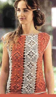 CROCHET BLOUSE. FREE PATTERN.