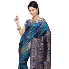 Blue Bengal Handloom Swarnachuri Pure Silk Saree Online Shopping: SHC20