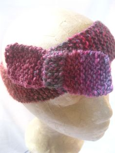 Hand Knitted Head Band with Bow Noro Silk by KnitwitDesignsUK, £11.00