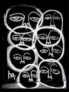 'Faces in a Crowd', NYC Street Art