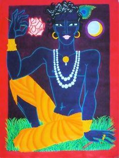"Saatchi Art Artist elise collet soravito; Painting, ""krishna"" #art"