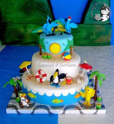 Party and event ideas and inspirations Rio Birthday Cake, Rio Birthday Parties, Birthday Ideas, 3rd Birthday, Happy Birthday, Bird Cakes, Cupcake Cakes, Rio Cake, Pirate Cupcake