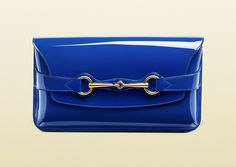 647c91a5ebac11 Gucci Bright Bit Patent Leather Clutch Bag