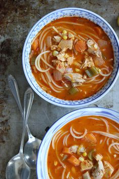 Tomato Chicken Noodle Soup by Heather Christo, via Flickr