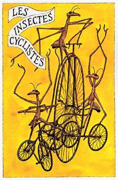 Edward Gorey – Les insectes cyclistes