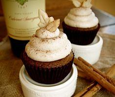 pumpkin cupcakes with cinnamon buttercream.  Mmmm