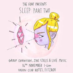 dear melbourne sweetheartsjoin me at Sleep: Part Two a group hexibition for dreamers and sleepers featuring local and international artists zine stalls & live music. ill be launching some new work and will have originals for sale from my new CRYSTAL DREAMERS series as well as zines for sale at Sticky Institutes zine table! sunday 16th november 1-6 pmunion club hotel 164 gore street fitzroy melbournefree entry (exhibition runs until the 26th november) hope to see you! gemma xx by…