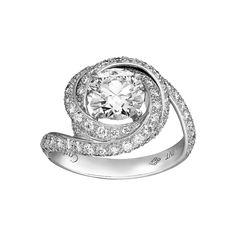 Solitaire Ring - Platinum, diamonds. - Fine Engagement Rings for women - Cartier