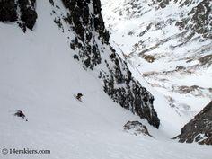 Frank Konsella backcountry skiing on Kit Carson.