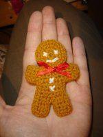 NÁVODY HÁČKOVÁNÍ Gingerbread Man, Xmas, Christmas, Crochet Necklace, Mini, Advent, Navidad, Navidad, Noel