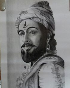How to Draw Shivaji Maharaj Face pencil drawing step by step Face Pencil Drawing, Pencil Art Drawings, Abstract Drawings, Realistic Drawings, Art Drawings Sketches, Shivaji Maharaj Painting, Shivaji Maharaj Hd Wallpaper, Drawing Competition, Cute Disney Drawings