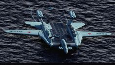 """concept ships: Soviet Atomic Powered Ground-effect Light Carrier 19701 """"SMELOST"""" by Alex Brady Spaceship Art, Spaceship Concept, Concept Ships, Concept Art, Military Weapons, Military Aircraft, Fly Air, Ground Effects, Experimental Aircraft"""