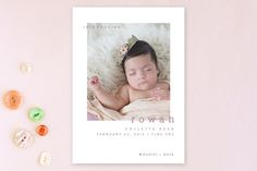Innocent Birth Announcements by Sydney Newsom at minted.com