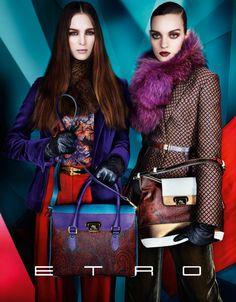 that handbag! omg! Iselin Steiro, Magda Laguinge & Laura Love Star in Etros Fall 2012 Campaign by Mario Testino