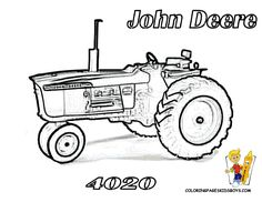 Earthy Tractor Coloring Pages | Farm Tractors | Free | Farmers