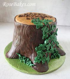 Tree Stump Cake Side