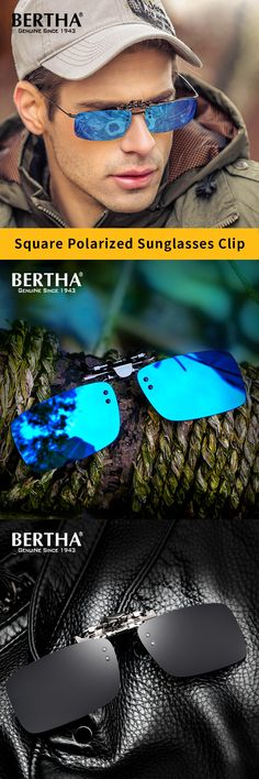Bertha Top Quality Mirror Polarized Sunglasses Clip on Sunglasses Driving Clip Men Coating Myopia Sun Glasses Clip On Sunglasses, Polarized Sunglasses, Sunglasses Women, Eyewear, Lenses, Mirror, Top, Accessories, Storage