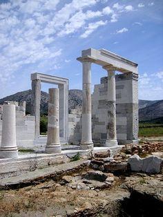 beautiful ruins of Demeter's temple in Greece