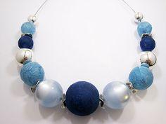 Zandstorm: Handgeschepte papieren kralen (Juwelen,halsketting)