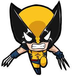 Wolverine chibi by Nickyparsonavenger Wolverine Comics, Wolverine Cartoon, Marvel Comics, Chibi Marvel, Marvel Art, Chibi Superhero, Comic Kunst, Comic Art, Cute Drawings