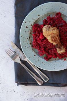 Céklás hajdinarizottó rozmaringos sült csirkecombbal. GM recept Tandoori Chicken, Quinoa, Paleo, Beef, Ethnic Recipes, Food, Bulgur, Meat, Essen
