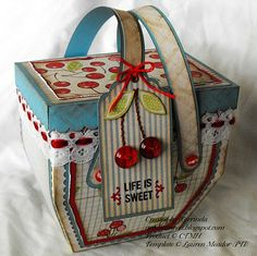 Life is like a box of...cherries! Picnic Basket by Lorrinda at Isn't That Sweet?!  Template can be found here: https://www.papertreyink.com/downloads/my-timeless-templates-pack-a-picnic/