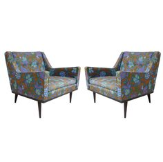 Pair of Milo Baughman Club chairs 3200