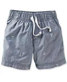 Carter's at Kohl's - Shop our wide selection of boys' clothes, including these Carter's Anchor Chambray Shorts, at Kohl's. Baby Outfits, Toddler Outfits, Kids Outfits, Toddler Pants, Toddler Boys, Kids Shorts, Boy Shorts, Baby Boy Fashion, Kids Fashion