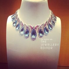 Glorious aquamarines and diamonds at @bulgari #biennaleparis #bvlgari #jewels…