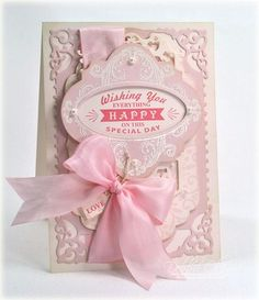 card designed by Debbie Olson using Birthday Vintage Labels Four clear stamps
