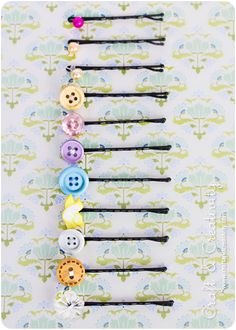 DIY button bobby pins- for Isley if she ever gets hair.