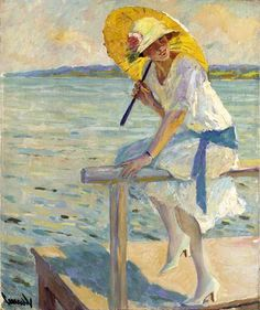 Edward Cucuel - The Yellow Parasol
