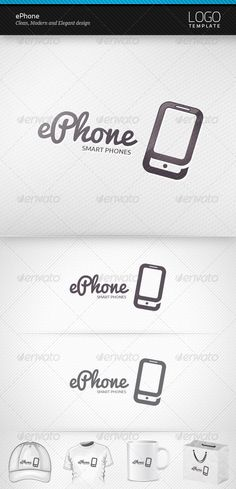 ePhone  - Logo Design Template Vector #logotype Download it here: http://graphicriver.net/item/ephone-logo/3655755?s_rank=1080?ref=nexion