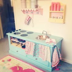 DIY kids kitchen