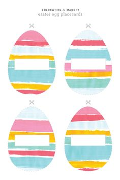 FREE Printable from Colorwhirl / Easter egg placecards