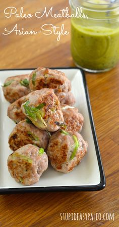 Paleo Pork Meatballs, Asian-Style | stupideasypaleo.com. 5 ingredients! Click here for the recipe >> http://stupideasypaleo.com/2014/01/09/paleo-meatballs-asian-style/ #whole30 #paleo #realfood