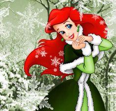 Ariel Winter Green Disney Christmas