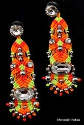 Swarovski-neon-zilver-oorbellen-Leetal-Kalmanson | Personality Fashion