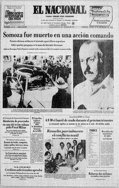 Asesinato de Somoza. Publicado el 18 de septiembre de 1980