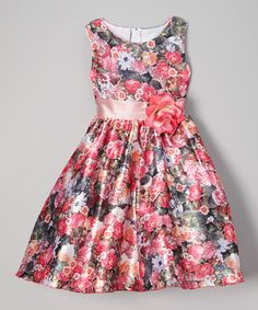 Pink Floral Dress - Infant, Toddler & Girls #zulily #zulilyfinds