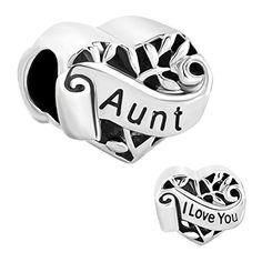 e311e6f6b awesome Heart I Love You Aunt Filigree Charms Sale Cheap Jewelry Beads Fit  Pandora Charm Bracelet