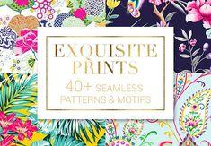 40 Seamless Patterns and Motifs –  $19  (rrp$39)