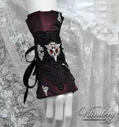 Beautiful Gothic Victorian Cuff Bracelet with wings, Lolita Vampire Style, Dark Fashion, Elegant Goth Wedding Jewelry, Accessories