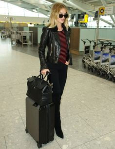 Rosie Huntington-Whiteley's stylish arrival