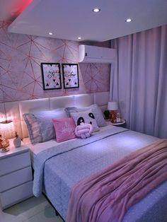 Small Room Design Bedroom, Bedroom Decor For Teen Girls, Girl Bedroom Designs, Room Ideas Bedroom, Home Room Design, Luxury Rooms, Luxurious Bedrooms, Girl Room, Room Inspiration